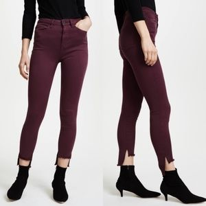 DL1961 Chrissy Trimtone High-rise SKINNY Burgundy